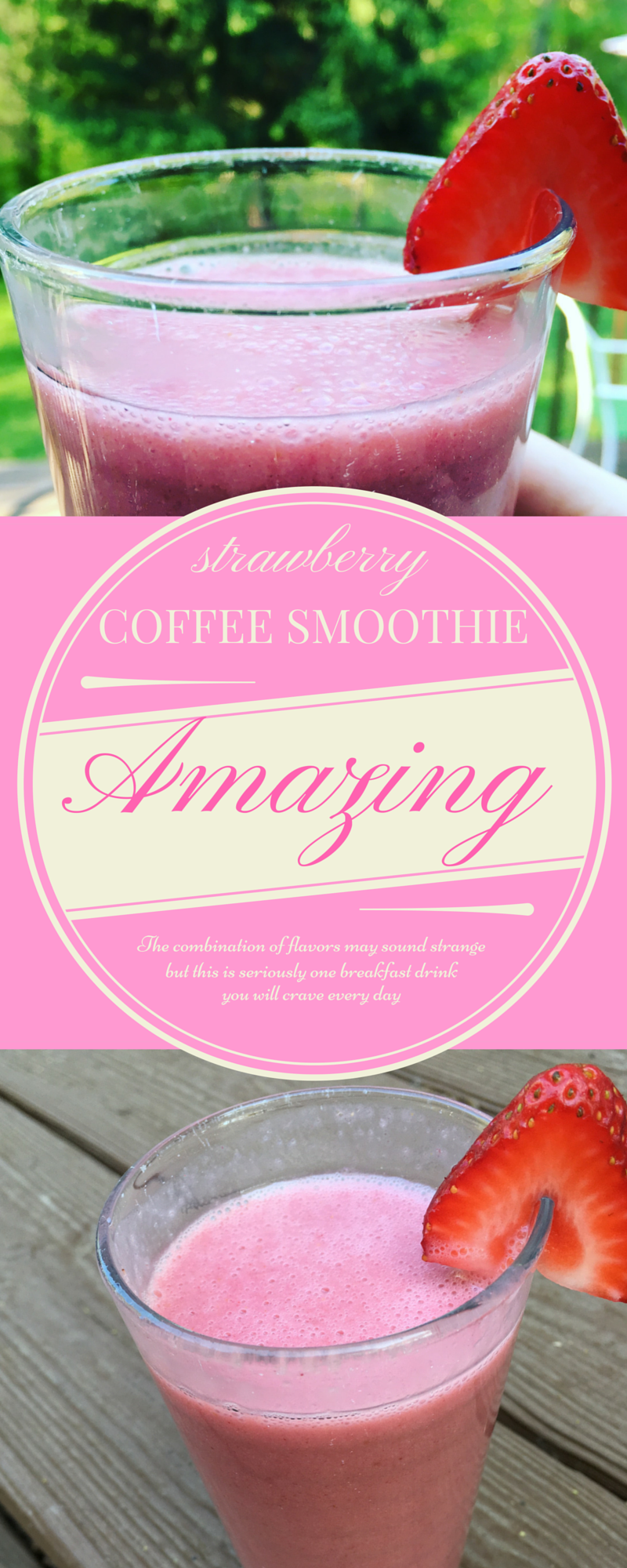 strawberry coffee smoothie gluten dairy free