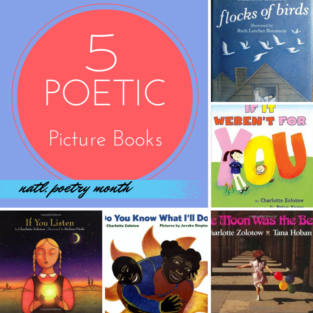 five picture books for poetry month