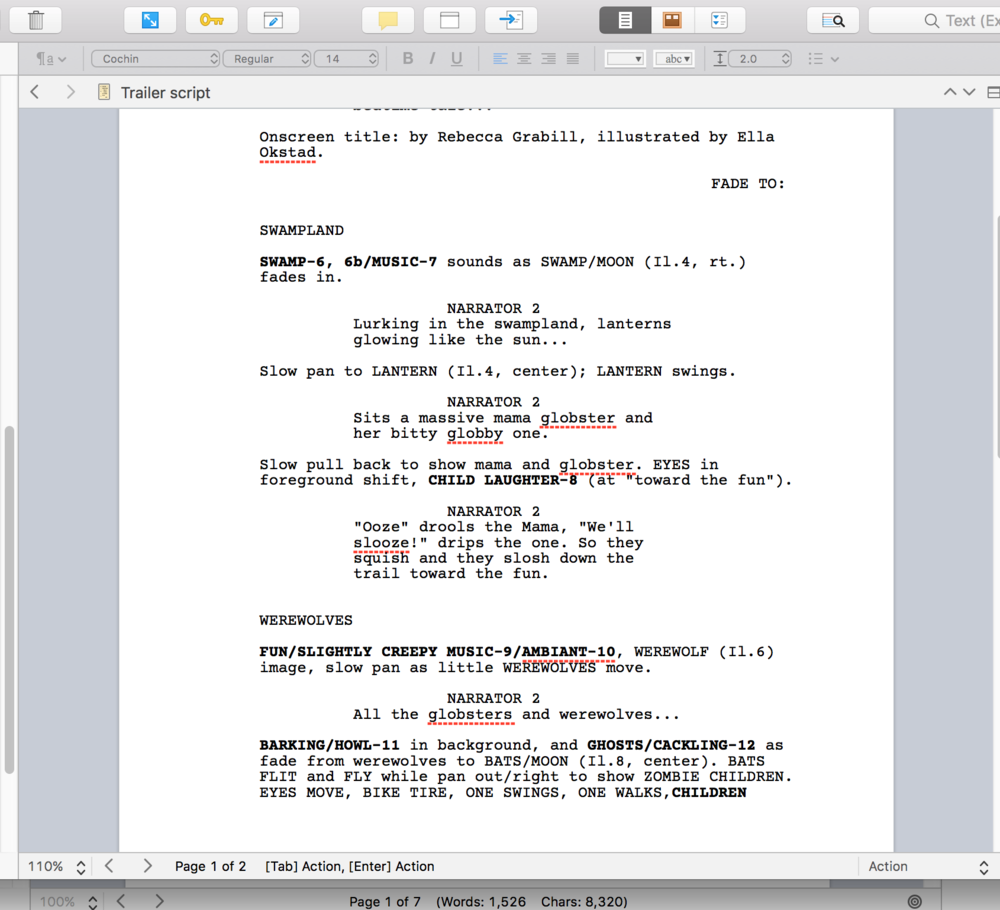 Script for my book trailer for Halloween Good Night by Rebecca Grabill