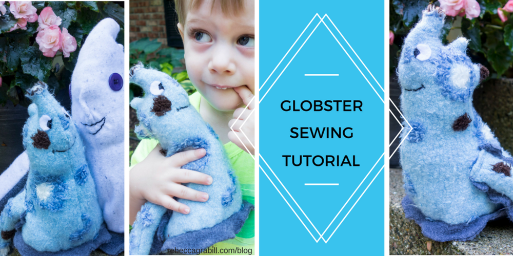 How to sew your very own Globster stuffed plush toy! An adorable and cuddly accompaniment to the picture book Halloween Good Night by Rebecca Grabill, illustrated by Ella Okstad.