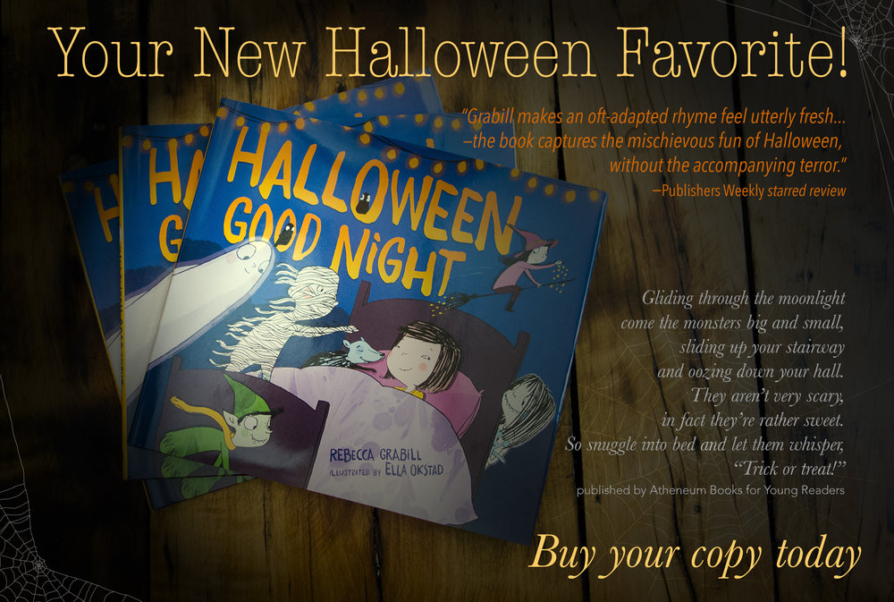 Halloween Good Night by Rebecca Grabill, PR postcard printing tutorial