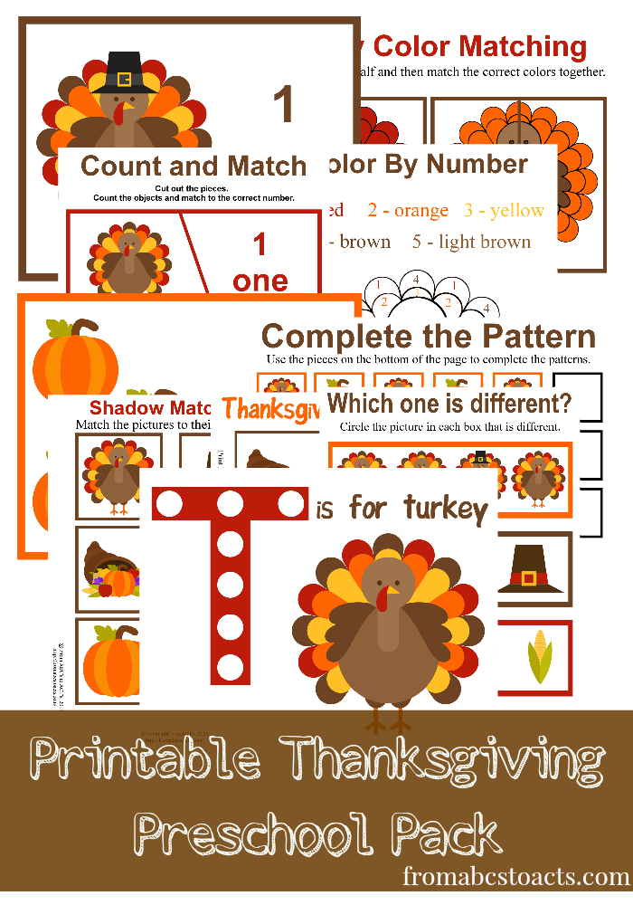 Easy, Fun - Thanksgiving printables