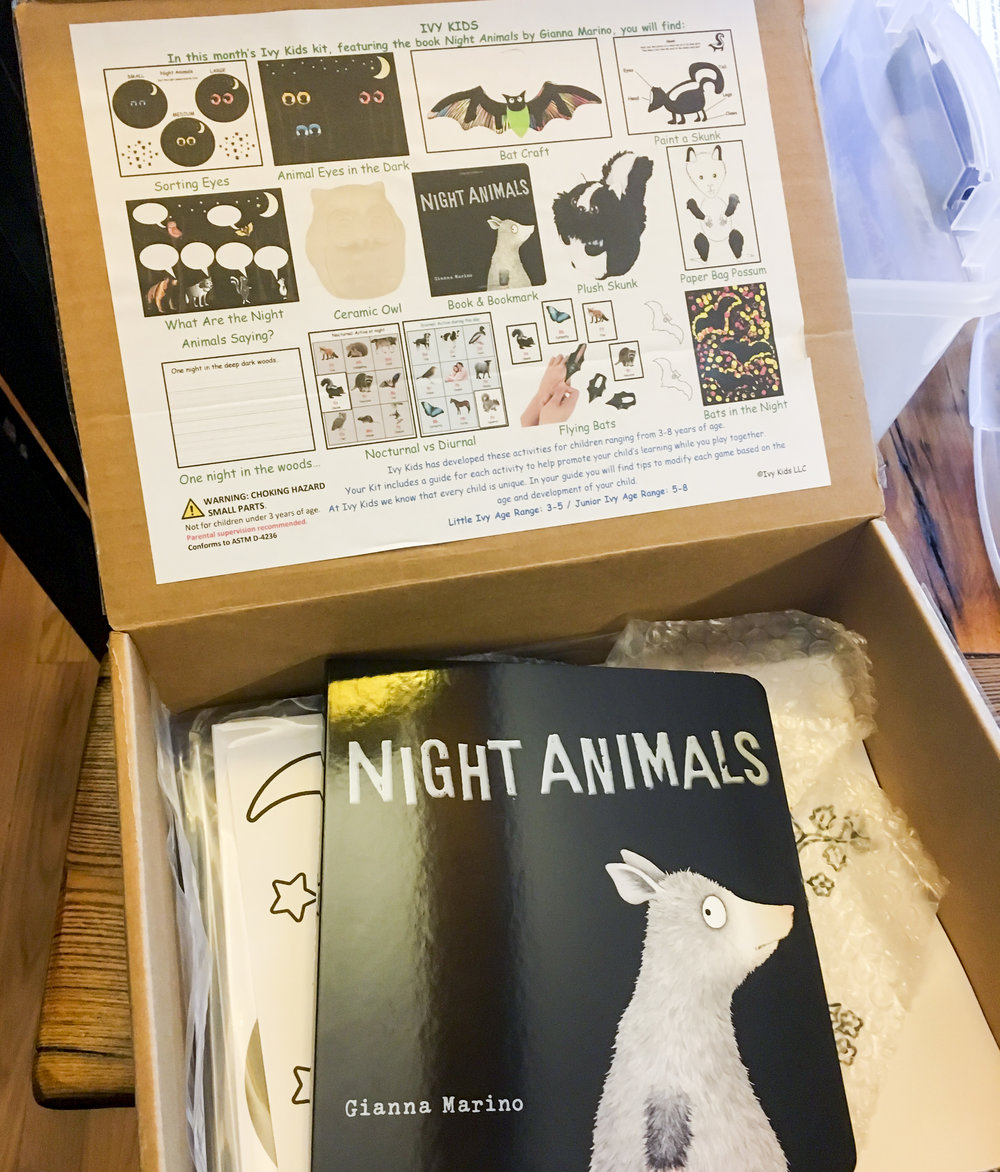 Night Animals Ivy Kids Subscription Box