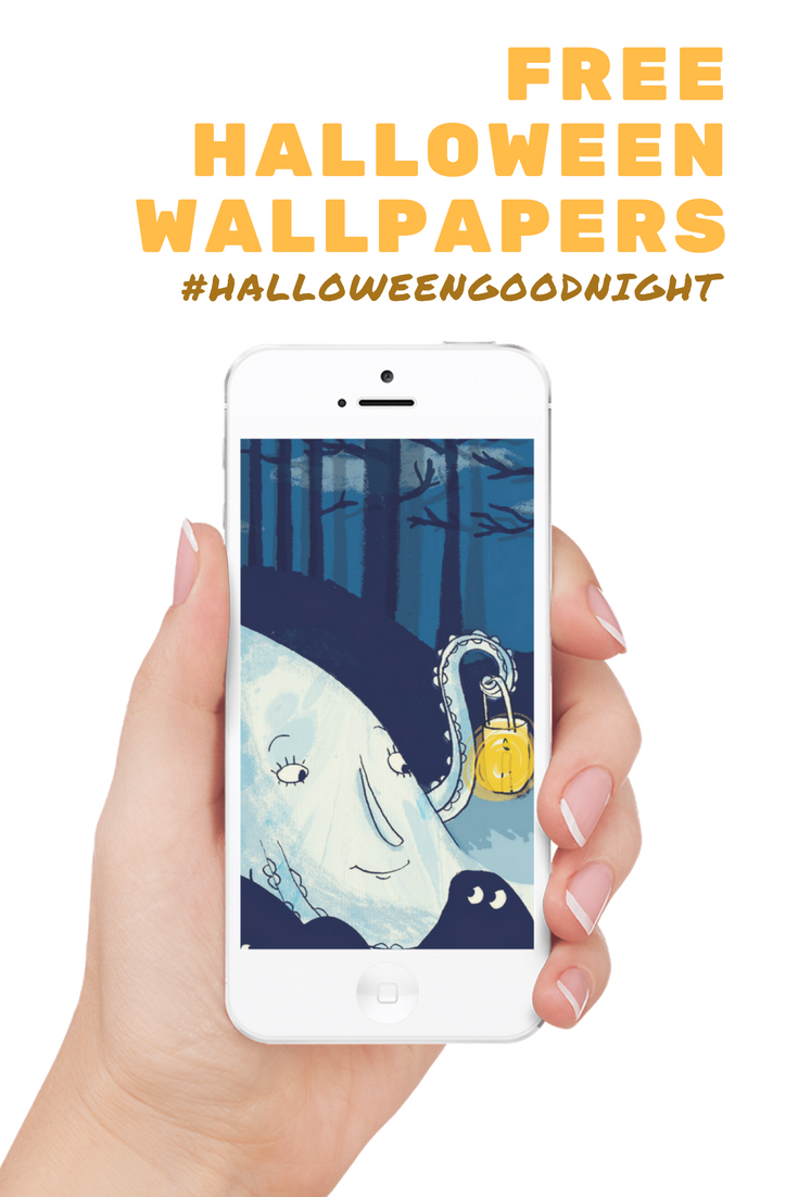 Free Halloween Wallpapers to go with the book Halloween Good Night, a picture book by Rebecca Grabill and illustrated by Ella Okstad.