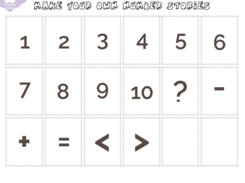 Number stories free printable