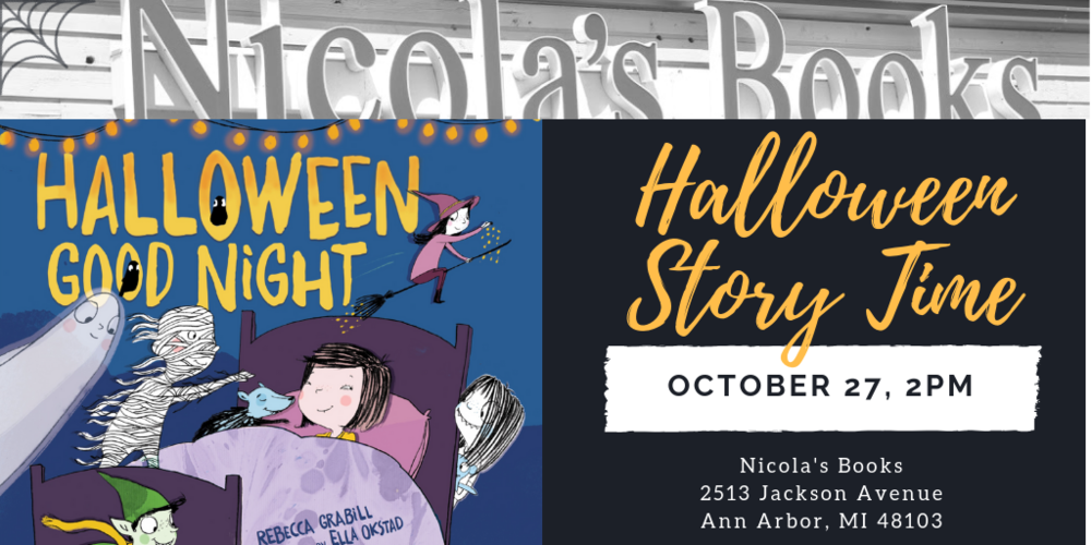 Join Rebecca Grabill at Nicola's Books for a Halloween Story Time!