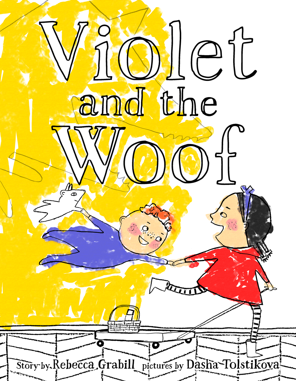 a free printable coloring page from Violet and the Woof by Rebecca Grabill and Dasha Tolstikova
