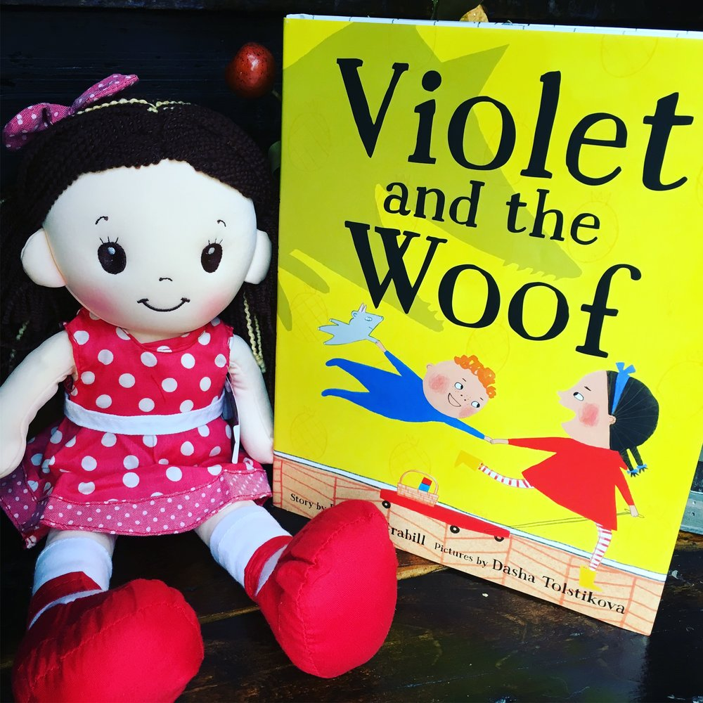 Win a copy of Violet and the Woof AND this adorable plush Violet doll!