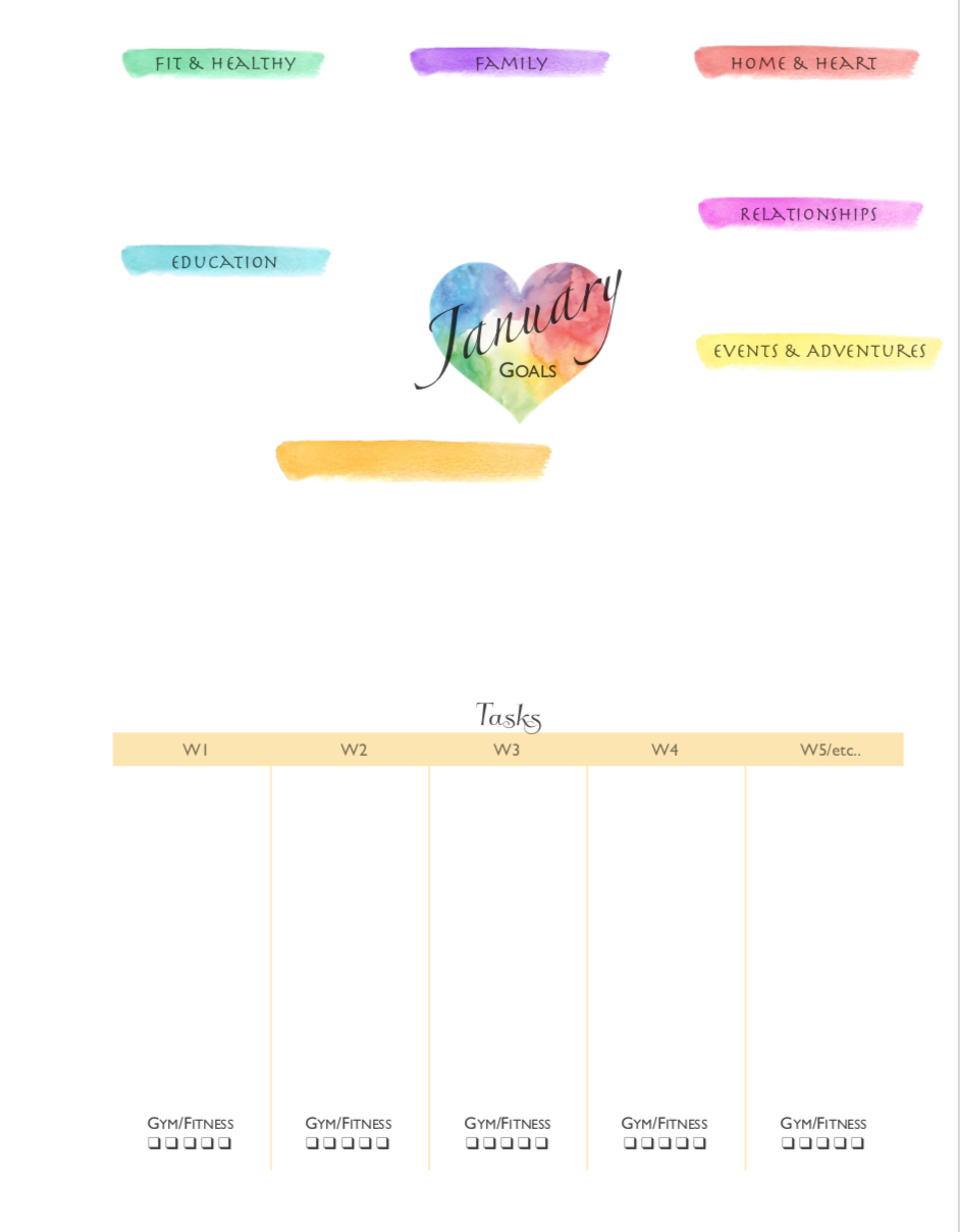 Do some goal planning with this Happy Planner free printable