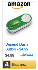 Depend Dash Button