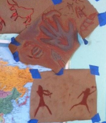 Modern cave paintings recently discovered on the walls of Skybridge Academy