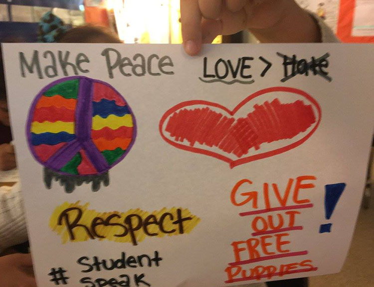 Photo contributed to the Teaching Tolerance #StudentsSpeak campaign