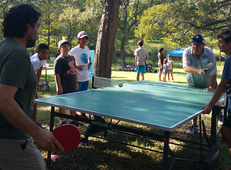Ted Graf leads Headwaters School and, among other worthy pursuits, plays ping-pong.
