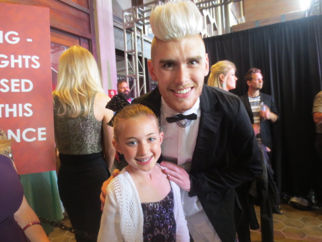 on the red carpet with Colton Dixon