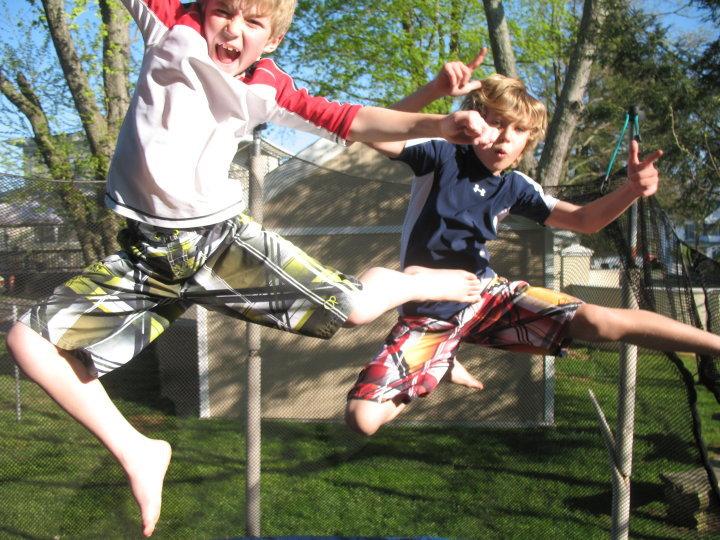 Trampoline fun, 2010.