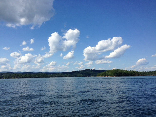 Toy Story Clouds on the lake