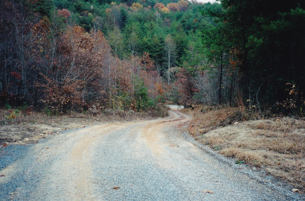 the steep driveway