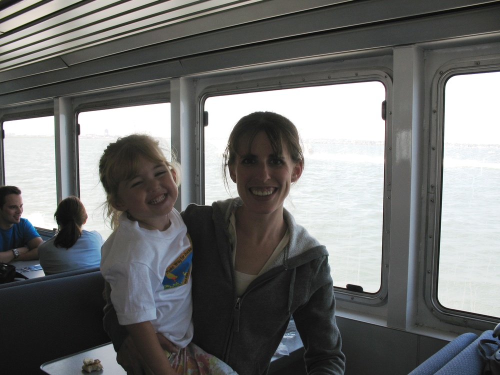 KELLY AND KENZIE AT THE START OF THE WHALE BOAT EXCURSION