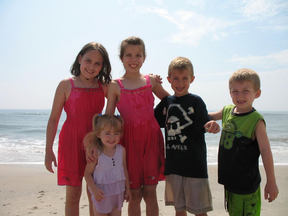 the kiddos at Chincoteague island