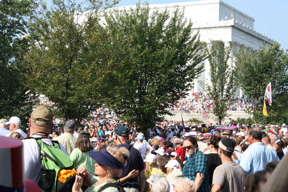 THE CROWD AT THE PATRIOTIC RALLY IN D.C.
