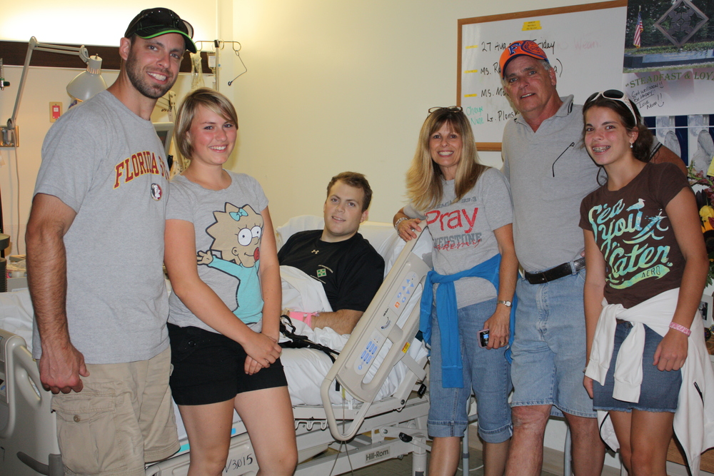 RYAN'S FRIEND, JUSTIN, AT WALTER REED MEDICAL CENTER