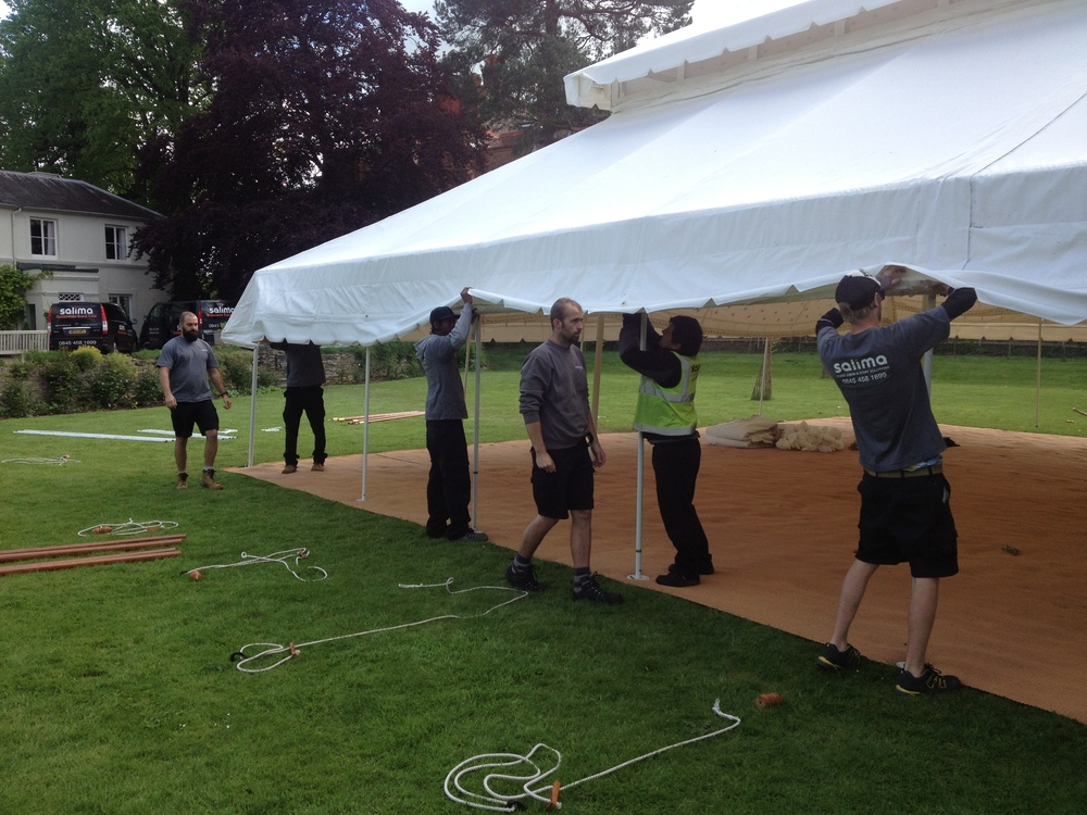 Erecting the Indian Tent Marquee.JPG