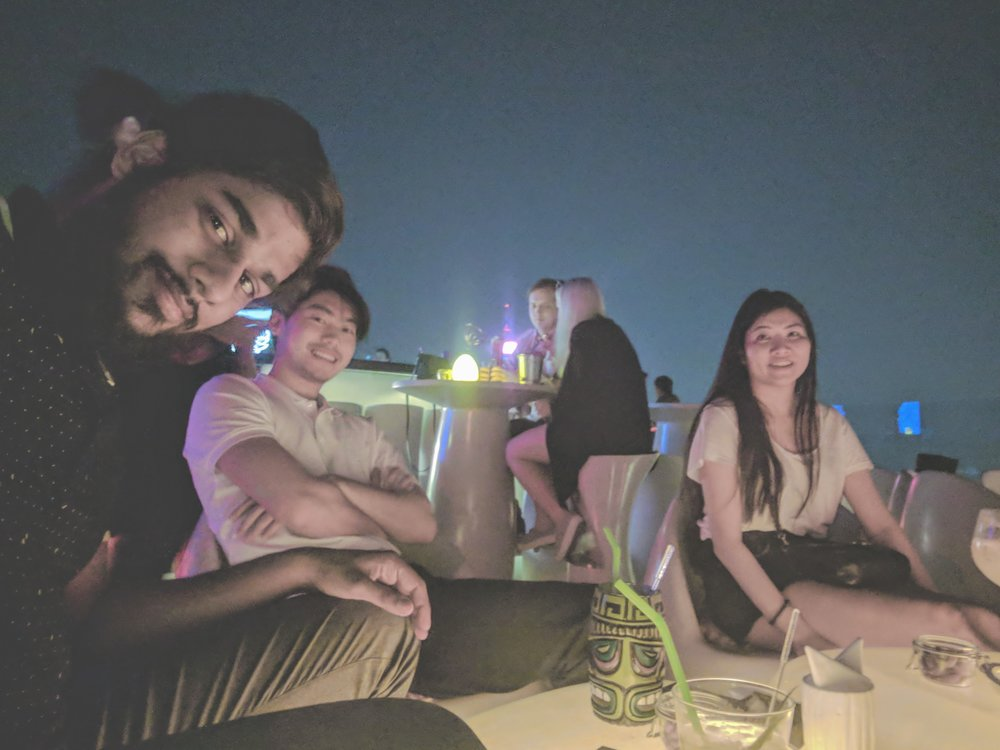 Rooftop Bar in Bangkok.