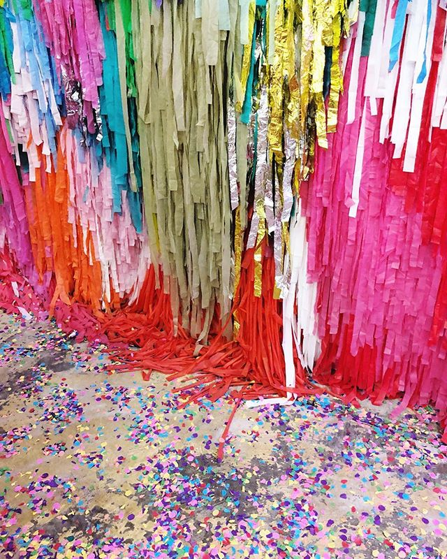 Glad I'm not the one sweeping this place 🎉 · · · #sugarrepublic #brisbane #color #colour #confetti