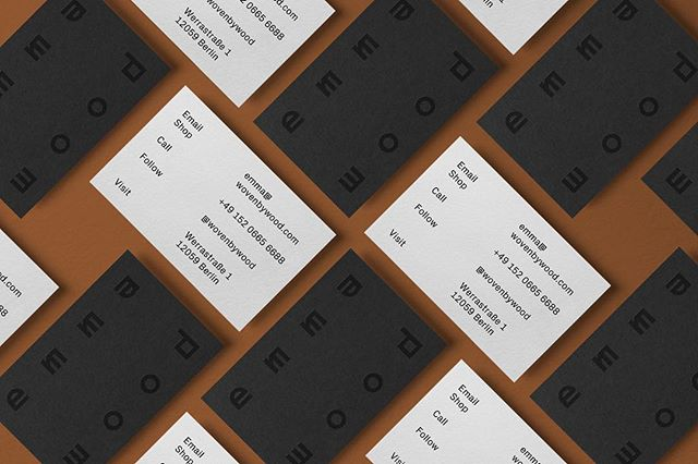 New work for @wovenbywood ✨ coming soon ✨ · · · #design #graphicdesign #typography #typeface #mono #businesscards #wip #monotone