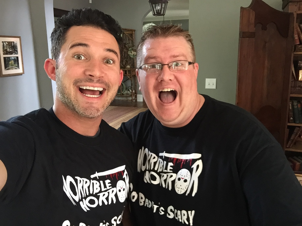 Justin Willman & Marshall Hampton after recording episode 17 Graduation Day