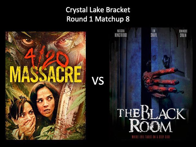 WHICH IS WORSE?! Last of the Crystal Lake Bracket, 420 Massacre vs The Black Room! Thanks for voting Moongoons! #420massacre #theblackroom #weedhorror #sexyhorror #marchmoviemadness #horriblehorrorpodcast #horrorpodcast #crystallakebracket #moongoons