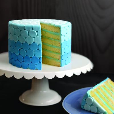 Ombré Polka Dot Cake