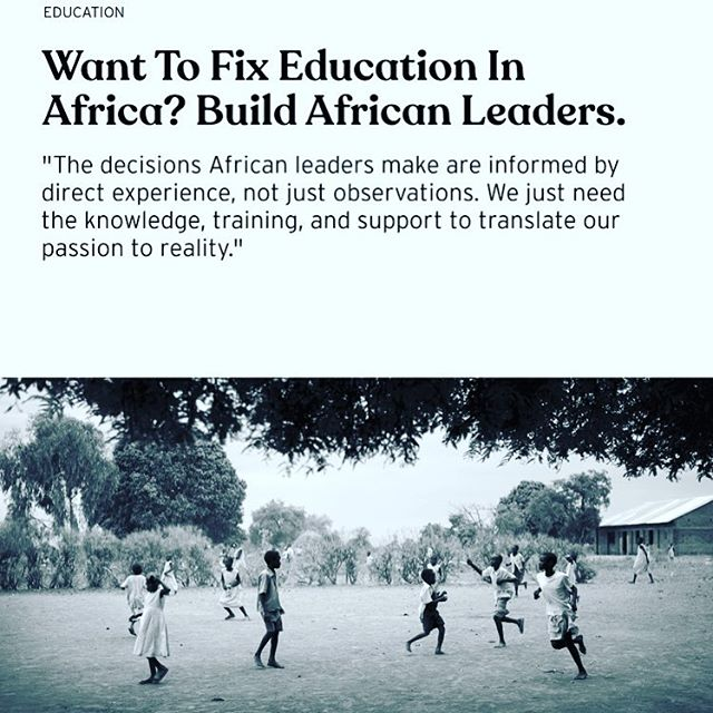 Want to fix education in Africa? Start by investing in #African #Leaders who through their lived experience can change the trajectory for kids despite their socioeconomic backgrounds! Honored for being back on my writing ✍️ Thanks @brightthemag for the opportunity!! Read more at 👉🏾 https://brightthemag.com/want-to-fix-education-in-africa-build-african-leaders-teachers-c88a27133cb4  @teachforuganda @teachforall @teachforghana @teachfornigeria #Africa #Rising! #Leadersineducation #leadersforchange #sdg4 @barbaritabush @masonelisabeth @sabrinadupre @semweyamusoke @tsheilakangwagye