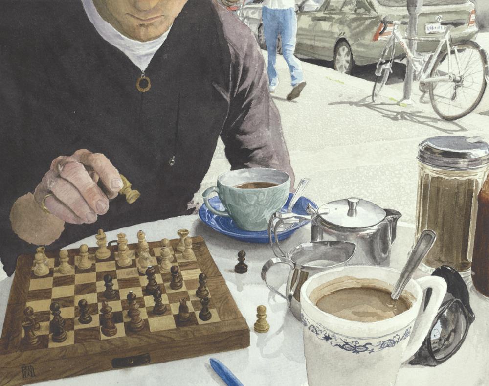 """Sunday Chess  13 x 17"""""""