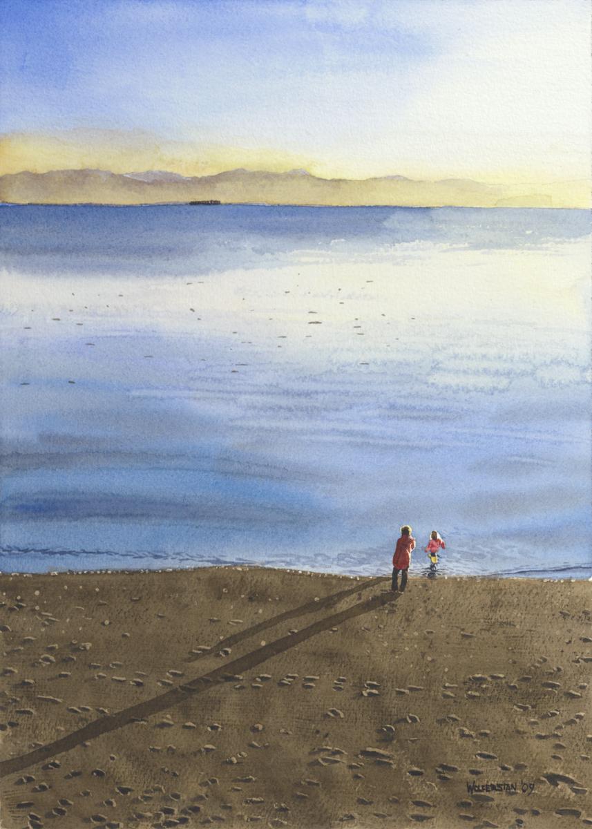 """Beach Shadows  10 x 14"""""""