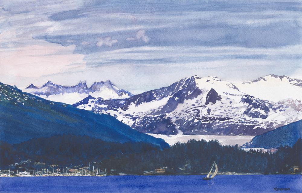 "Mendehall Glacier, Juneau, Alaska  9 x 14"""