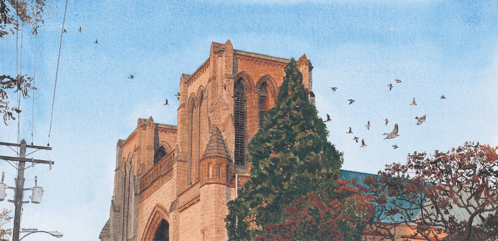 """Christ Church Cathedral, Larks Ascending  10 x 20.5"""""""