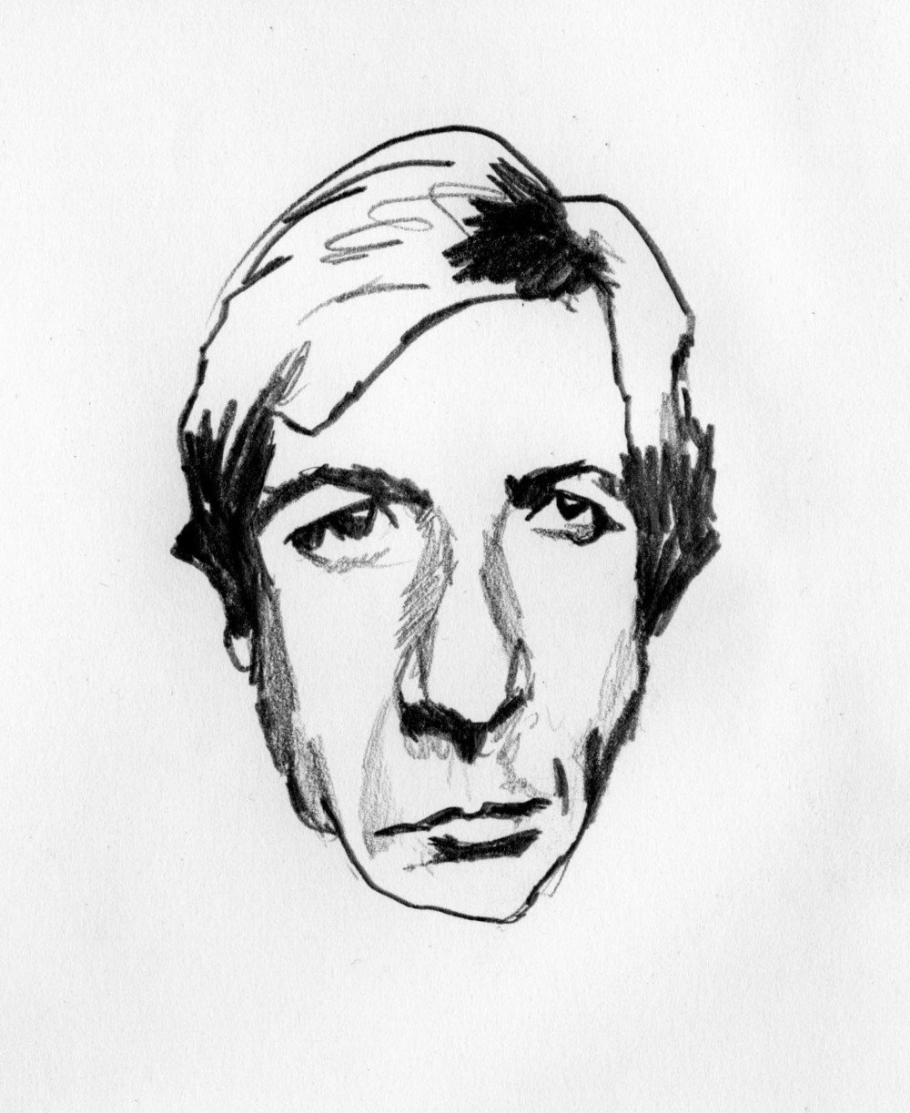 Young Leonard Cohen Study