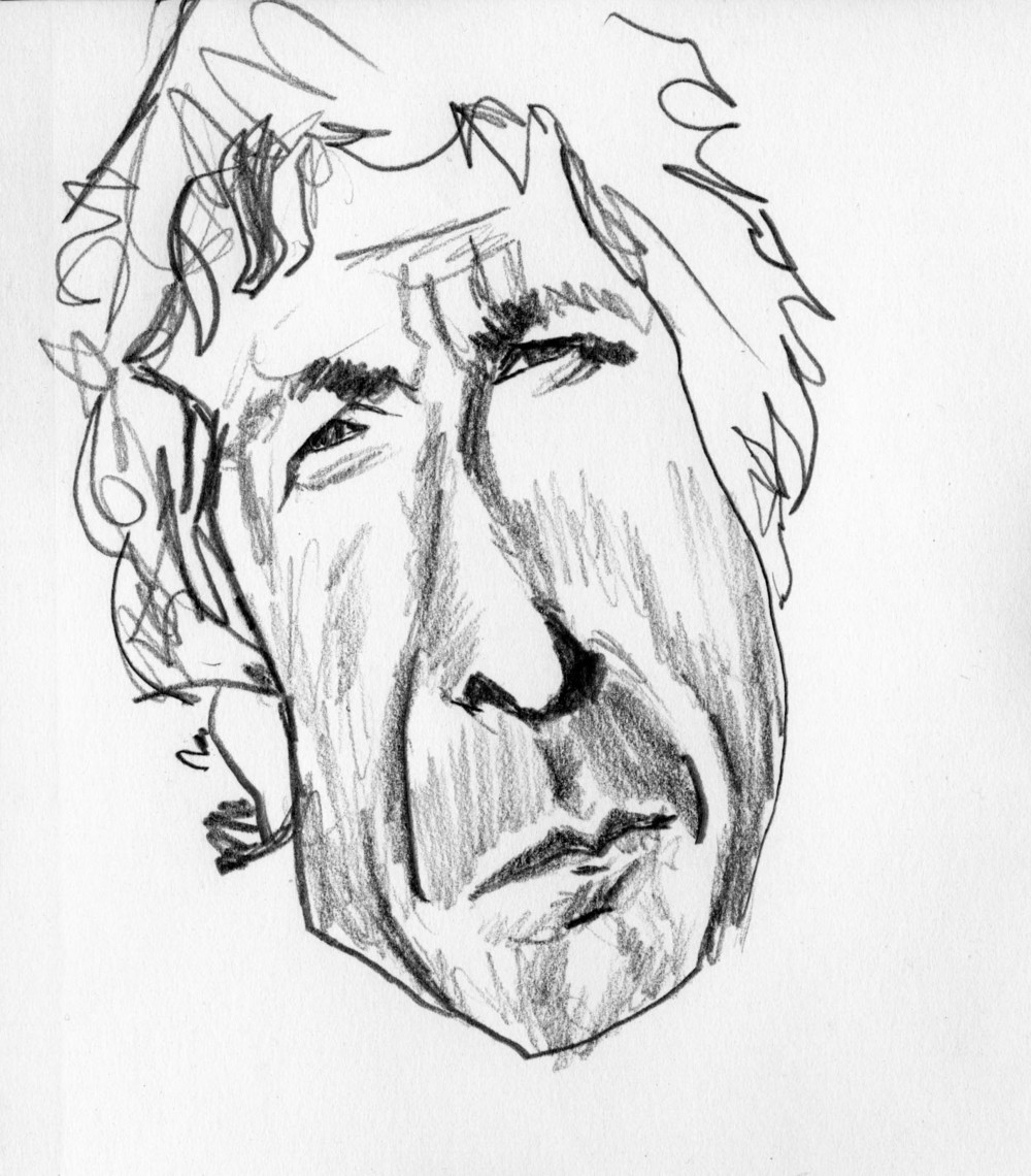 Young Leonard Cohen Study 2