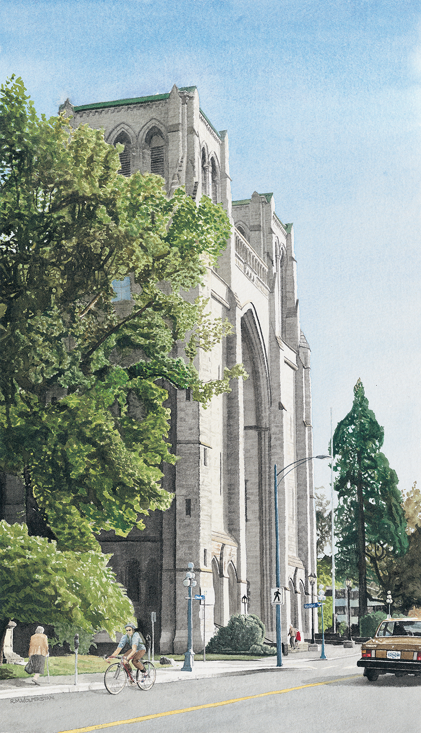 """Christ Church Cathedral, West Face  12 x 20"""""""