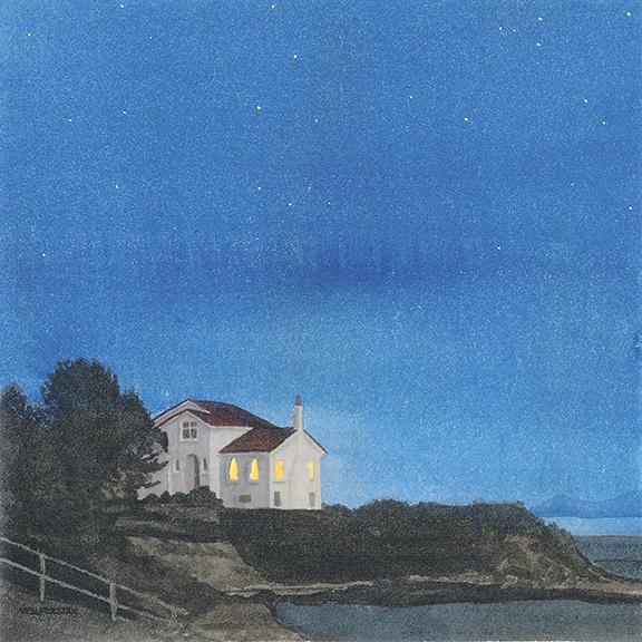"""East Ross Bay Evening  8 x 8"""""""