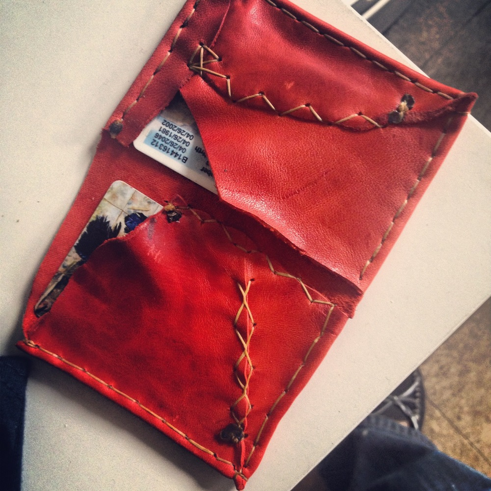 hand-sewn leather wallet
