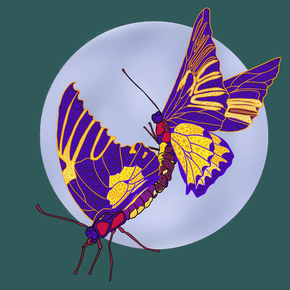 TBD butterflies mural design
