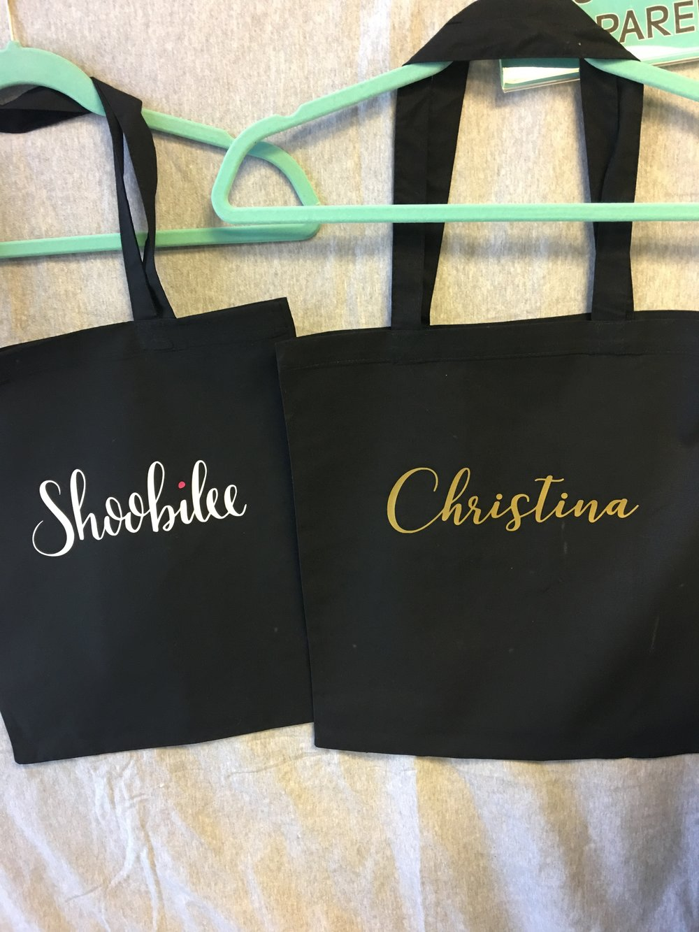 Custom company tote bags for Shobilee