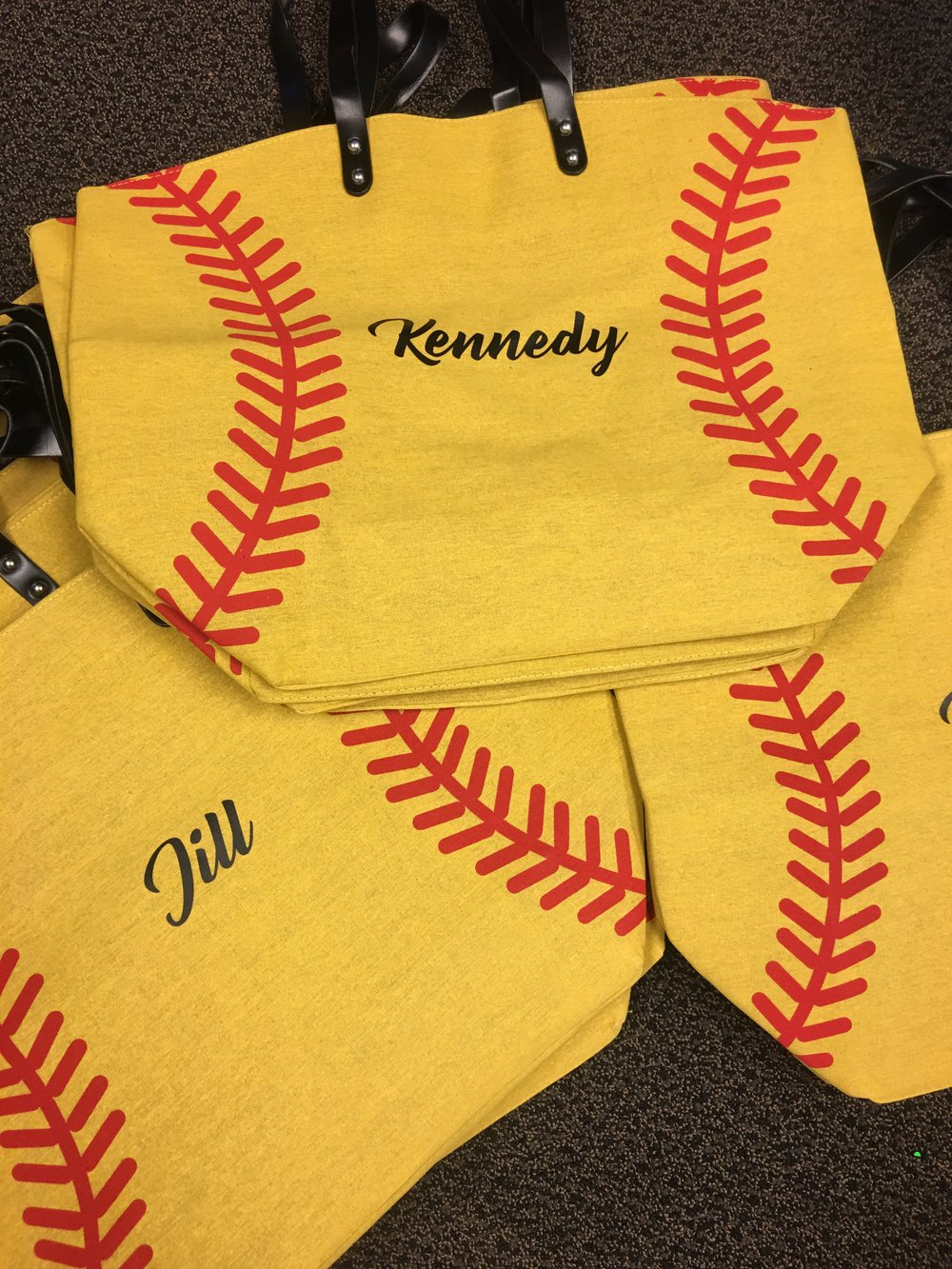 Custom Softball Tote bags