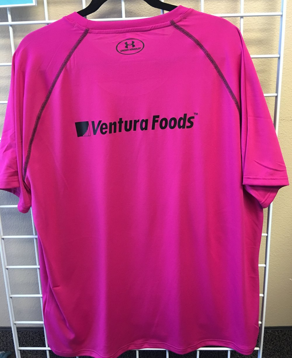 Custom Drifit Tees Sponsored by Ventura Foods - Saucy Pink Ninjas