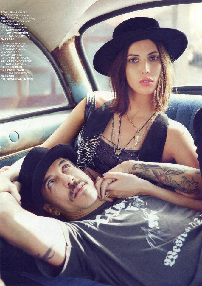 Anthony Kiedis and Ruby Aldridge