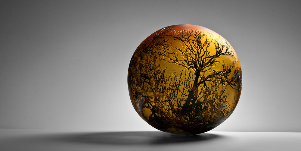 """Pretty Valley Sphere"" 2012 H340mm x W340mm x D340mm"