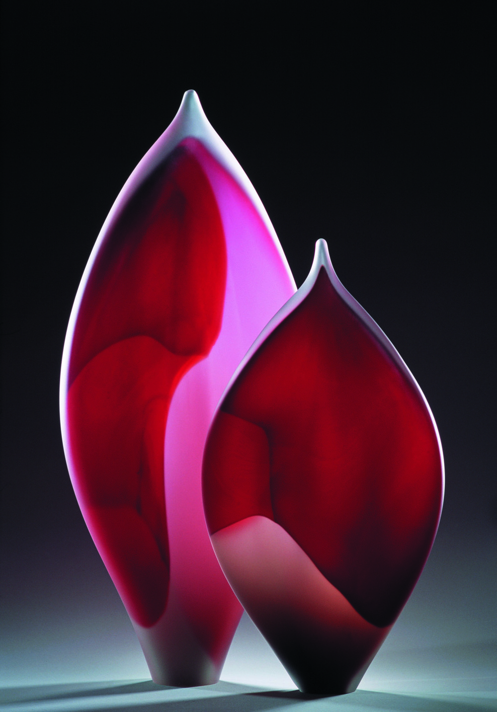 """Leaf Forms Red"" 2005 largest form H600mm x W330mm x D150mm"