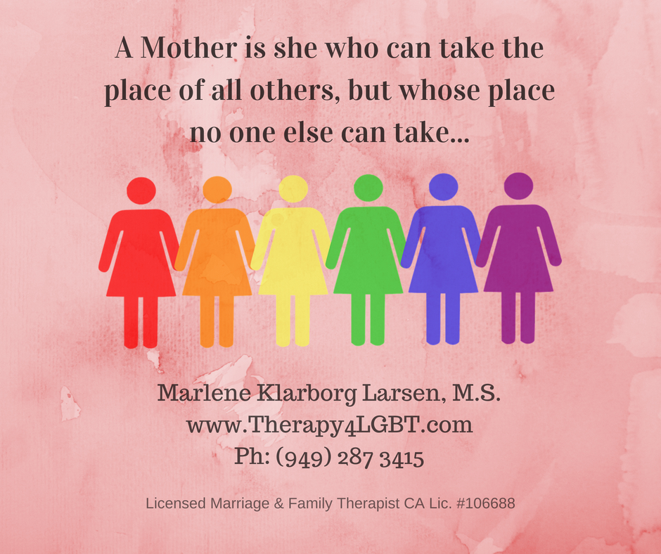 Lesbian Mother Therapy LGBT Orange County Marlene Klarborg Larsen non biological lesbian moms two moms counseling parentage ca same sex custody oc long beach los angeles.jpg
